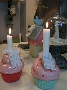 Cupcake candle holders