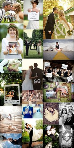 22 Wedding Photo Ideas - Our collection of inspiration photo ideas and poses for your wedding day! #photo #ideas #props #poses
