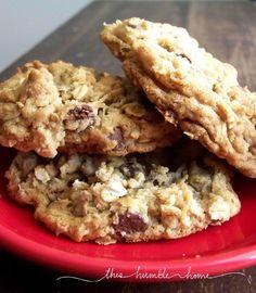 Laura Bush Cowboy Cookies - oatmeal choc chip coconut pecan -NUM NUM NUM