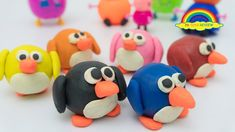 Learning the color with Colorful penguin Play Doh Clay Molded - Learn Colors and Numbers Part 67 Play Doh Clay, Learning Colors, Penguins, Numbers, Colorful, Toys, Activity Toys, Toy, Penguin