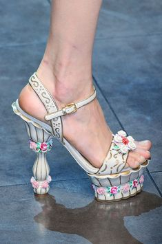 Dolce & Gabbana, fall 2012 #mfw #details #shoes