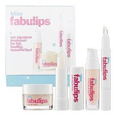 Bliss Fabulips New Skin Care Treatment Kit by Bliss. $35.69. 4-step treatment. Refresh, Retextured, Rejevenate,Replenish. For healthy full lips. Fabulips Treatment Kit: 1x Foaming Lip Cleanser 7ml/0.24oz 1x Sugar Lip Scrub 15ml/0.5oz 1x Instant Lip Plumper 1.4g/0.05oz 1x Softening Lip Balm 3.12g/0.11oz.
