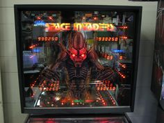 """Bally's """"Space Invaders"""" backglass...one of my faves!!"""