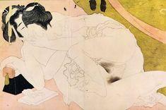 Katsushika Hokusai Art, Ukiyo-e woodblock printing, Gallery, Pictures, 371 Art Pictures, Art Images, Katsushika Hokusai, Comic, Japanese Painting, Japanese Artists, Woodblock Print, Vintage Japanese, Erotic Art