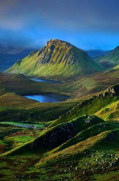 At the Quiraing on the Isle of Sky in Scotland.