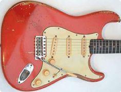 Fender Stratocaster 1961 Fiesta Red Original Vintage Guitar