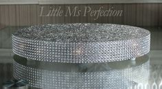 ROUND SQUARE SILVER DIAMANTE EFFECT WEDDING DISPLAY CAKE STAND BOARD REUSABLE