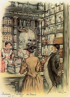 ~♥~ too adorable not to pin ~♥~  The Art of Anton Pieck. confectioners shop