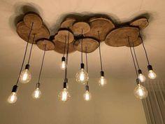 Deco Luminaire, Wooden Chandelier, Wood Lamps, Foyer Chandelier, Chandelier Ideas, Farmhouse Chandelier, Diy Casa, Rustic Lighting, Pendant Lighting