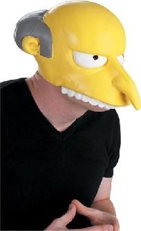 FREE SHIPPING WITHIN THE CONTINENTAL USA  Adult vinyl half mask, Simpson Character Mr. Burns. Adult size. *Trademark and Copyright 2005 Twentieth Century Fox Film Corporation. All Rights Reserved.  Check out my other listings for a large variety of... $27.00