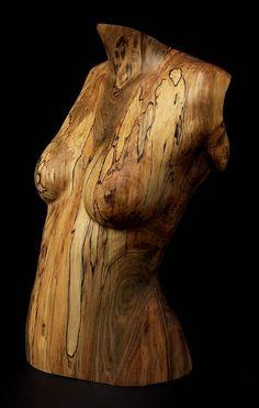 Wood Sculpture Figurative Deima IV, by Chad Awalt-Fine Art and Sculpture in wood  Ambrosia Maple