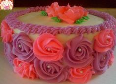 Ribbon rose cake! Mmm this was one a sweet one!