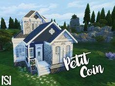 Petit Coin Starter Home by ScarlettNyx at TSR via Sims 4 Updates Sims 4 Ps4, Sims 4 Gameplay, Sims Cc, Sims 4 House Building, Sims House Plans, Sims 4 Challenges, Sims 4 Family, Minecraft Mansion, Play Sims 4