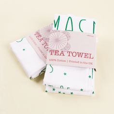 Tea towels plus packaging are one of our best looking and most photogenic products. Great design by www.edamay.com