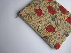 Poppies MacBook 13 sleeve with zipper MacBook Air by StudioSleeve, $27.00