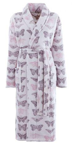 6de4cd3c33 Catherine Lansfield Pastiche Butterflies Butterfly Bathrobe Dressing Gown
