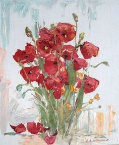 Buy Poppies, 50 * 60 cm, oil on canvas, 2007, Oil painting by Viktor Makarov on Artfinder. Discover thousands of other original paintings, prints, sculptures and photography from independent artists.