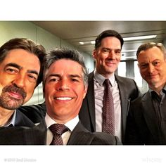 Great day of filming! Behind the scenes at @CrimMinds_CBS with @JoeMantegna @GarySinise #ThomasGibson #CriminalMinds