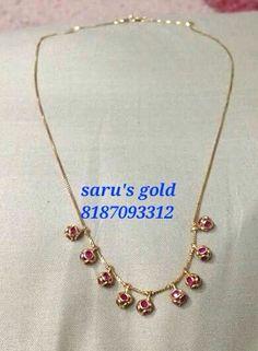 Dhc Ruby Jewelry, India Jewelry, Jewelery, Kids Jewelry, Gold Jewellery, Simple Necklace Designs, Gold Earrings Designs, Antique Jewellery Designs, Jewelry Design