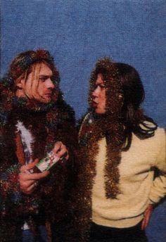 Kim Deal and Kurt Cobain backstage at Pier 48 (MTV Live and Loud), Seattle, December Kim Deal, Nirvana Kurt Cobain, Music Icon, My Music, Tim Burton, Pixies Band, Kurk Cobain, Photo Rock, Grunge