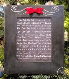 Christmas music subway art {free printable}