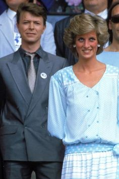 David Bowie with Diana, Princess of Wales at Live Aid
