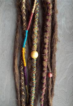 10 Custom Dreads Hair Wraps & Beads Bohemian Hippie Dreadlocks Tribal Falls Synthetic Boho Colored Extensions