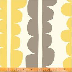 Curtian fabric for design studio??   Lotta Jansdotter - Echo - Standing Stones in Yellow