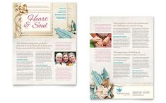 Hospice & Home Care Newsletter Template by StockLayouts #graphicdesign