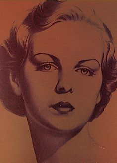 The famous Mitford sisters sketched by the artist William Acton sometime during the early 1930's.
