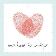 Uniquely in Love gift tag by Kelly Maron Horvath