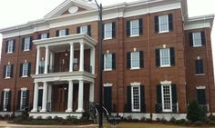 Williamstowne Modular Size Handmade Brick on Alpha Gamma Delta House at University of Alabama, Tuscaloosa, AL Delta House, Alpha Gamma, University Of Alabama, Brick And Stone, Squirrels, Home Projects, Multi Story Building, Happiness, College