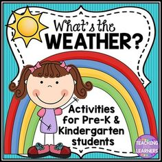 Weather Unit Includes: *A Week of Weather Journal *Raindrop Number Recognition 1-10 *Weather Word Cards *Uppercase/Lowercase Letter Matching *3 Weather themed Worksheets *Weather Clipart