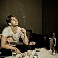 fosterthepeople cigarette, guitar & coffee