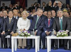 Erdogan attends the opening ceremony of Marmaray