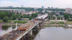 Operação de Substituição de uma Secção do Tabuleiro da Ponte de Łazienkowski na Polónia | EngenhariaCivil.com