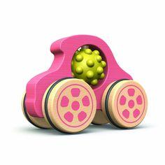 Begin Again Toys Pink Car Nubble Rumbler