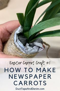 Make your own Easter decor with this easy carrot craft -- We show you how to make carrots out of stacks of old newspapers! Old Baskets, Easter Baskets, Carrot Craft, Home Decor Australia, Diy Easter Decorations, Easter Crafts, Easter Ideas, Holiday Crafts, Holiday Fun