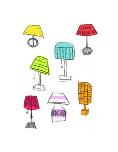 Colorful lamps by DearYouFromKozue, via Flickr