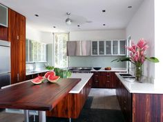 Discover inspiration in these examples of wood kitchen countertop ideas.