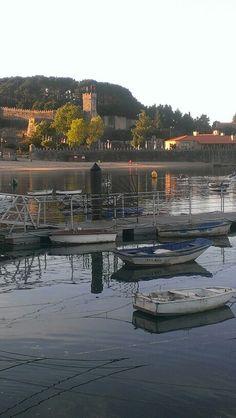 Bayona, Pontevedra, Galicia Spain. Sea, wonderful. Monterreal al fondo.