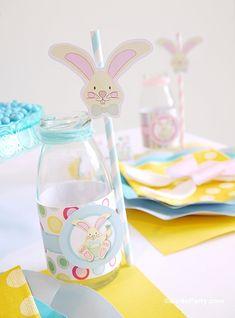 Easter Kids Brunch & DIY Party Ideas withn Printables - BirdsParty.com