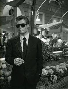 Women problems, yes. Eyewear problems, no. Marcello Mastroianni in La Dolce Vita.