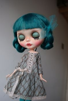 Jewel -custom ooak blythe doll, unique art doll by AlmondDoll