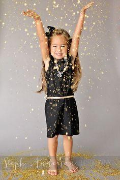 Glitter photo shoot - black and gold