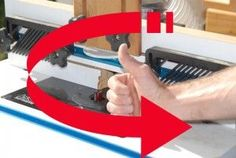 Know the right hand rule to Routing for safety - Router feed direction and bit rotation