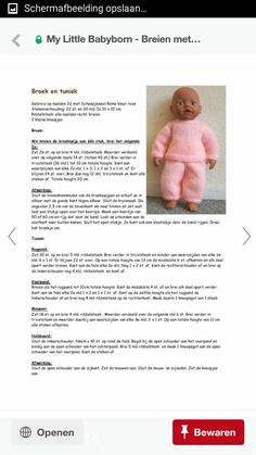 Baby Doll Clothes, Doll Clothes Patterns, Clothing Patterns, Baby Dolls, Holly Hobbie, Baby Born, Doll Toys, Crochet, Knitting Patterns