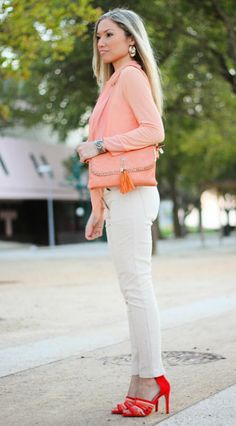 SALMON SHADES #salmon #polkadots #heels #zara #ootd #fashion #fashionblog