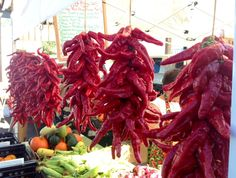 """In Santa Fe, it's all about chiles.  Here is a string of red chile.  (Notice how """"chile"""" is spelled with an """"e"""" at the end unlike the more typical """"i"""" everywhere else.)"""