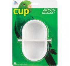Prevue Hendryx Birdie Basics - Winged Bird Cage Cup - White - 4 fl oz